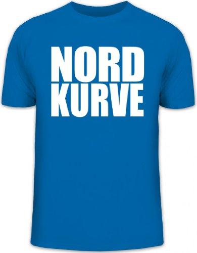 Shirtstreet24, NORDKURVE, Ultras Hamburg Schalke Fußball, Herren T-Shirt Fun Shirt Funshirt, Größe: L,royal blau