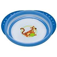NUK 10255154 Disney Easy Learning Esslern-Teller mit Deckel, Anti-Rutsch-Griffe, rutschfester Boden, BPA-frei, blau