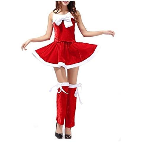 Koly_Donne di Santa Costume Xmas Ufficio partito Outfit