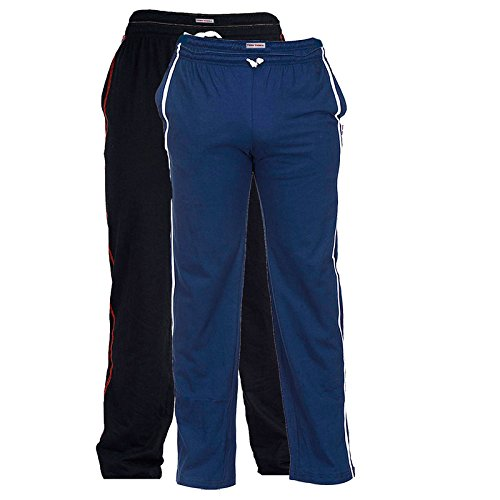 TeesTadka Men's Coton Trackpants for Men Valur Pack Offer for Men Pack of 2 Multi Coloured Solid