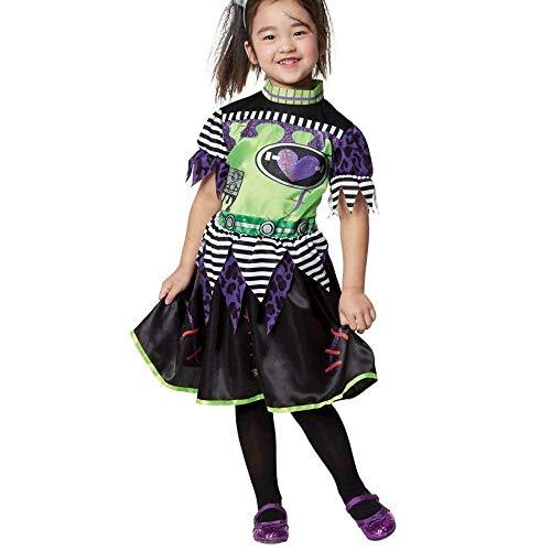 Unbekannt Franky Family Miss Monster Frankenstein Mädchen Fasching Halloween Karneval Kostüm (122-128)