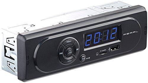 PEARL MP3 Autoradios 1 DIN: MP3-Autoradio CAS-300 mit Wiedergabe von USB & microSD, 2x 7 W (Autoradio mit MP3-Wiedergabe von USB und SD-Karten)