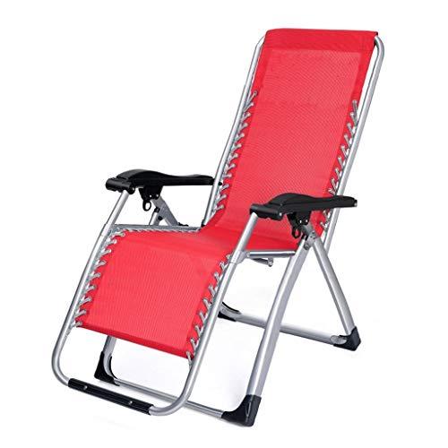YUER Schwerlast-Schwerelosigkeitsstühle, klappbare Liegestühle, Lounger Deck Chairssingle Büro Nickerchen Bett Mittagspause Stuhl faul Rückenlehne StuhlGarden Outdoor Patio Sonnenliegen (Color : A)