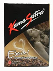 Kamasutra Excite Coffee Cappuccino - 8 Condoms
