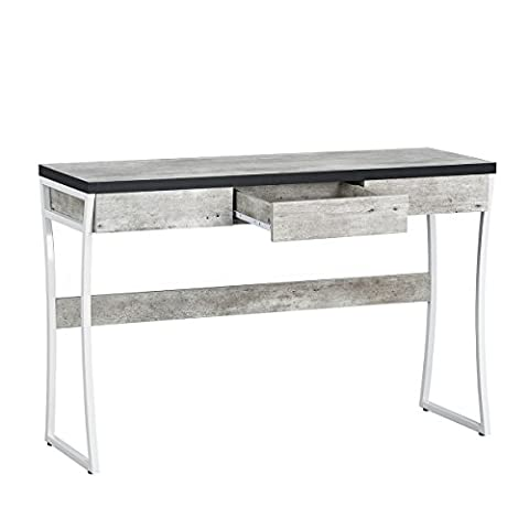 Fanilife Console Table Unique Design Wood Entryway Side Board with Drawer Multifunctional Storage Desk Marble Pattern