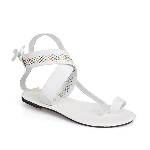 Gezichta estate sandali per donne, open-toe sandali flat, roman, sandali flat infradito sandali, stile etnico da spiaggia sandali, beige, 38