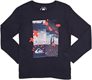Quiksilver Long Sleeve Nomad Organic F4 Printed Boy's T-Shirt Navy 14 Years