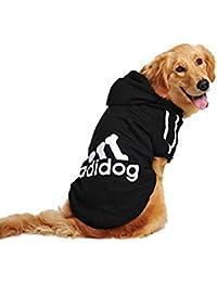 UUstar® Hundekleidung für kleine und große Hund (S bis 9XL) fünf Farben HundeHoddie (9XL, Schwarz)