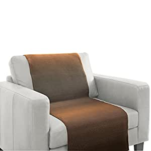 Télésièges de jeté de canapé/sesselschoner sofaschoner marron-camel - 100 x 200 cm