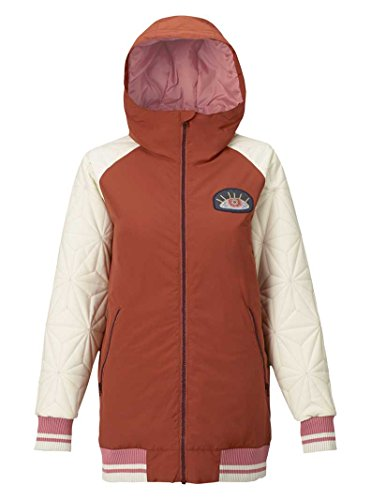 Damen Snowboard Jacke Burton Mossey Maze Jacke Burton Snowboard Jacke Rot