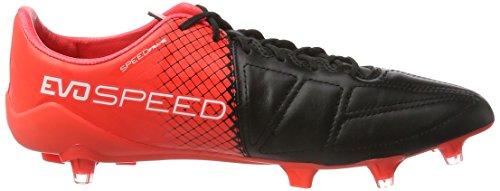 Puma Herren Evospeed 1.5 Lth Fg Fußballschuhe, 40 EU Mehrfarbig (schwarz/rot/weiß)
