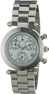 Constantin Durmont Damen-Armbanduhr Chronograph Quarz Visage CD-VISL-QZ-ST-STST-WH