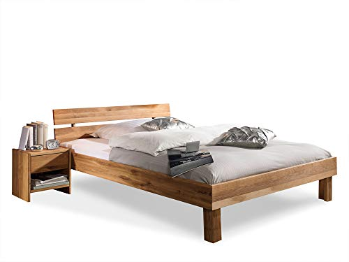 Massivholzbett Caria Holzbett Doppelbett, Material Massivholz, 160 x 200, Wildeiche