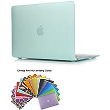 """MacBook 12"""" Retina Caso Funda TECOOL® Ultra Delgado Multi Colores Suaves al Tacto Duro Case Cubierta Plástica con TECOOL® Alfombrilla De Raton para MacBook 12"""" Retina Display modelo: A1534(Verde Claro)"""