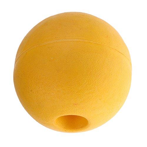 Baoblaze Bojen Bälle Schwimmbad Markierung Bojen Abgrenzungsboje - Gelb 15x15cm