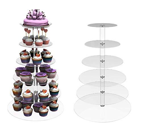 Acecoree Tortenständer 6 Etagen Hochzeit, Cupcake Ständer und Dessert Tower, Kuchenständer für Geburtstag Hochzeit Nachmittagstee Party Baby Duschen