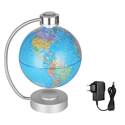 Jacksking Magnetschwebekugel, 8 '' Magnetschwebekugel für Schreibtischdekoration Bildungsgeschenk EU-Stecker 110V-240V