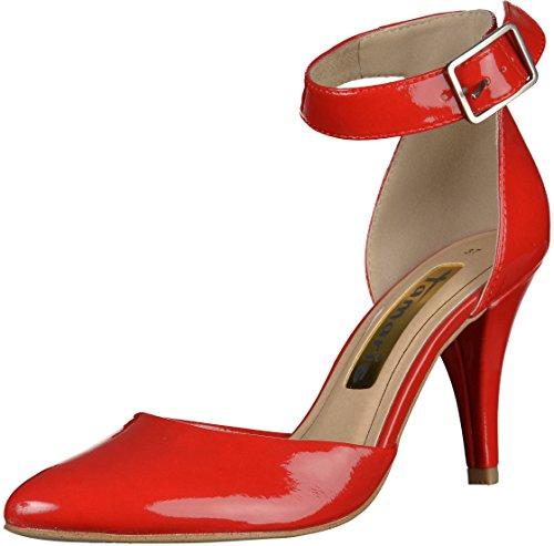 Tamaris 24455, Decolleté Avec Bride À La Cheville Femme Rouge (rouge)