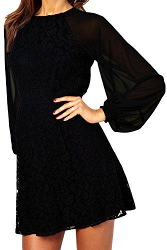 Dissa® femme Noir SY21039-2 Robe millésime Noir