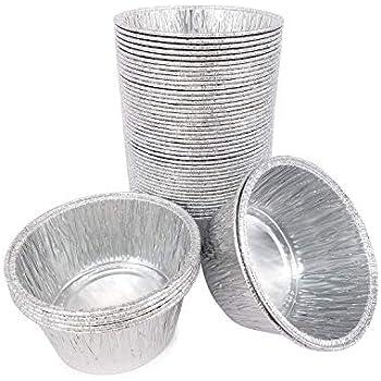 50pcs Foil Pie Dish 13cm Disposable Round Baking Foil