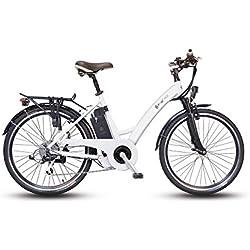 Bicicleta eléctrica F4W fast4ward, mujer, blanco