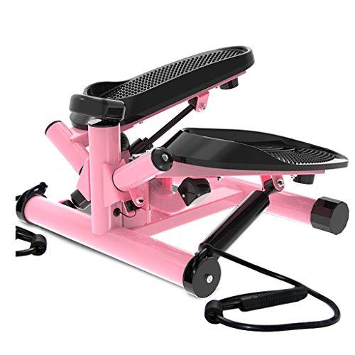 Stepper Haushaltspedalmaschine In-Situ-Klettermaschine Mini Silent Thin Waist-Maschine Gewichtsverlust Fitness Ofenrohr (Color : Pink)