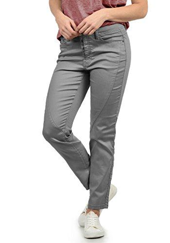 DESIRES Elbja Damen Jeans Denim Hose Boyfriend-Jeans Aus Stretch-Material Loose Fit, Größe:34, Farbe:Mid Grey (2842) Stretch Twill Bootcut-hose