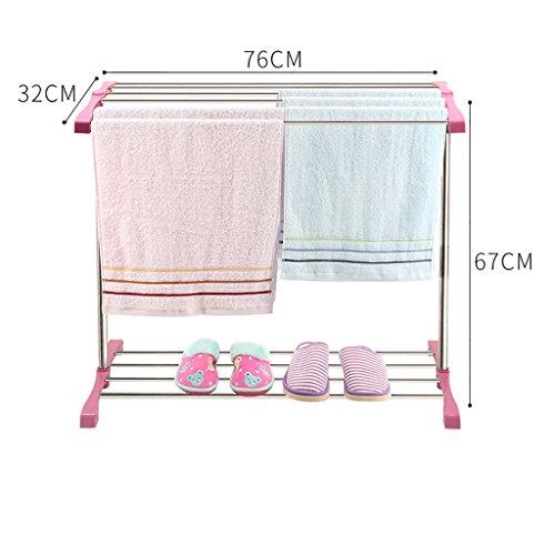 Trockengestelle, Handtuchhalter aus Edelstahl, Wäscheständer ( Farbe : B )