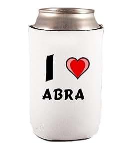 Individuale Getränkedosendecker - Dosendecker mit Ich Liebe Abra (Vorname/Zuname/Spitzname)