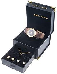 Pierre Cardin Frauen Damen Armbanduhr Halskette Und Ohrring Set PCX0312L11