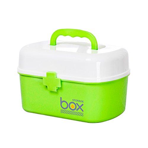 HZH Haushalts-Medizin-Kasten-mehrschichtiger medizinischer Notfallmedizin-Aufbewahrungsbehälter-Kasten-Notfallgesundheits-Ausrüstung (Color : Green) -