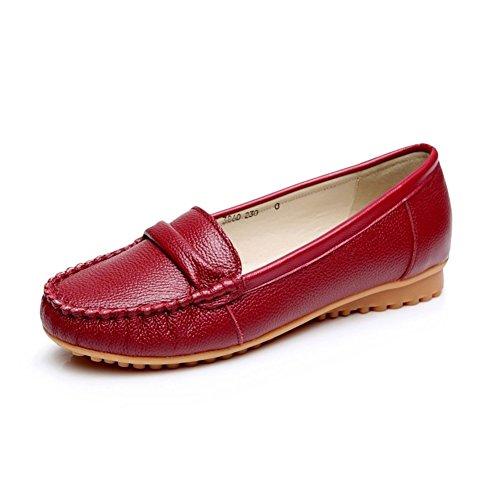 Portefeulilles en cuir pour chaussures avec creux/plat chaussure mère/Chaussures infirmière blanc/Sandales de taille plus C