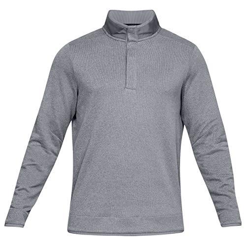 Under Armour Herren Crestable Sturm Fleece-Snap Golf Sweater - Zinc - S Sturm-snap