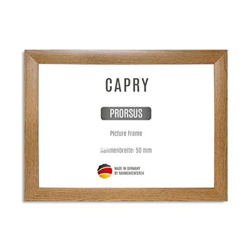 CAPRY PRORSUS 50 mm Cadre photo sur mesure pour images 120 x 80 cm, couleur: Chêne rustique, cadre fait main en MDF doté d'un verre synthétique antireflet incassable et d'un fond résistant, largeur du cadre: 50 mm, dimensions extérieures: 128,6 cm x 88,6 cm