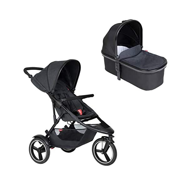 Phil&teds Dash Buggy with Seat Insert Black + Carrycot Baby Bath with Cover in Black phil&teds Box contents: 1 Phil&teds Dash buggy with seat insert black + baby bath (Carrycot) with cover black With a second seat, can be used as a twin and siblings for 2 children (not included, please order separately) 11.2 kg lightweight and slim 58 cm. 1