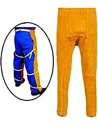 ZPL Pantalones de Soldadura Soldadura de Cuero Pantalones Resistentes a la abrasión de la Llama,