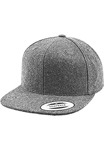 Melton Wool Snapback Urban Classics Flexfit Hat, h.grey