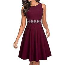1fe8cc4abeea7 Slyar Mujer Vestidos Elegant Slim con Encaje de Una Forma Mujer Nuevo  Vestidos 2019 para Vestidos