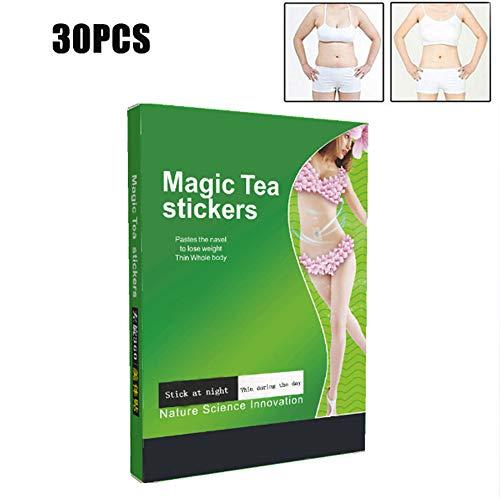 30 piezas parche adelgazante Wonder, parche delgado y delgado cuidado magnético para el cuidado de la salud pegatina de corrección de productos de pérdida de peso delgada