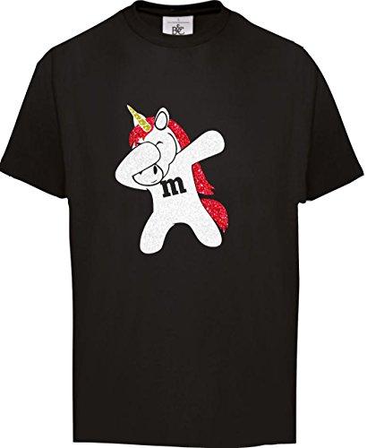neval Gruppen Familie Fasching Dabbing Unicorn Einhorn Kostüm Schwarz/Rot, 152/164 (Familie Gruppe Kostüme)