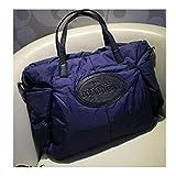 XUZISHAN Mode Platz Baumwolle Material Großes Paket Daunenjacke Handtasche Große Kapazität Winter Damen Schultertasche Blau