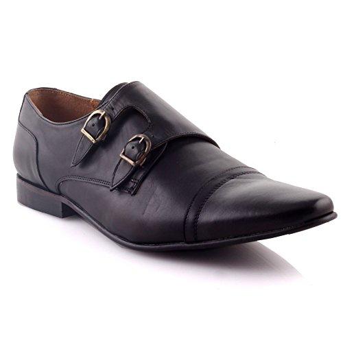 Unze Für Männer Endson Leder Büro Oxfords - G00241 Schwarz