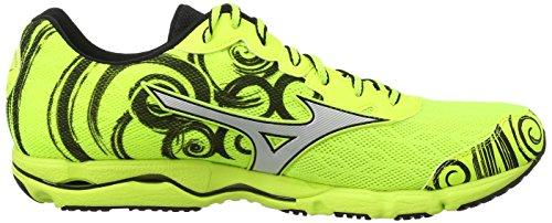 Mizuno Wave Hitogami, Chaussures de Running Compétition Homme Jaune (neon Yellow/silver)
