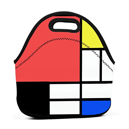 fb81f34c56c2 Mondrian Style Lunch Bag Tote Bag Lunch Bag Lunch Box Insulated Lunch  Container