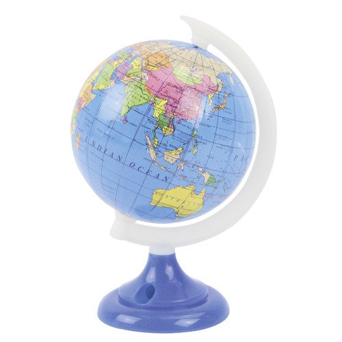 Globus-Spitzer, Anspitzer mit Globus, ca. 8cm im Ø, 13cm hoch