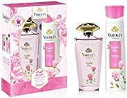 Yardley London English Rose perfumed gift set for Women, Eau De Toilette 125ml + Body Spray 150ml
