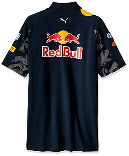 Red Bull Racing Herren T-Shirt Rbr Team Polo Poloshirt total eclipse