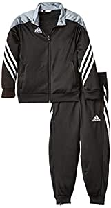 adidas Jungen Trainingsanzug Sereno 14, Top:black/silver/white Bottom:black/white, 116, F49707