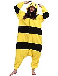 Kigurumi Pijama Animal Entero Unisex para Adultos con Capucha Cosplay Pyjamas Abeja Ropa de Dormir Traje de Disfraz para Festival de…