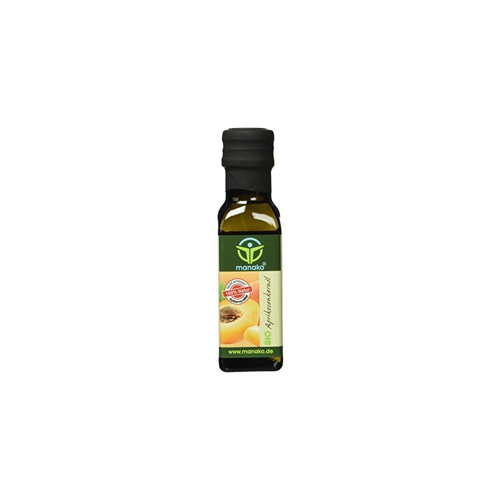 Manako Bio Aprikosenkernl Kaltgepresst 100 Rein 100 Ml Glasflasche 1 X 01 L
